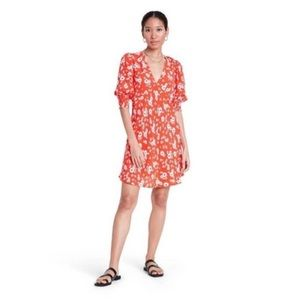 RIXO for Target Red Daisy Floral Swing Dress 16